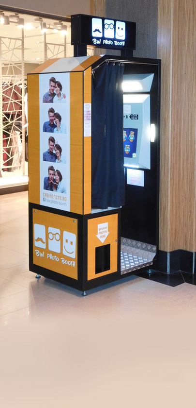 Cabine foto BW Photo Booth in centre comerciale - Locatii mall-uri